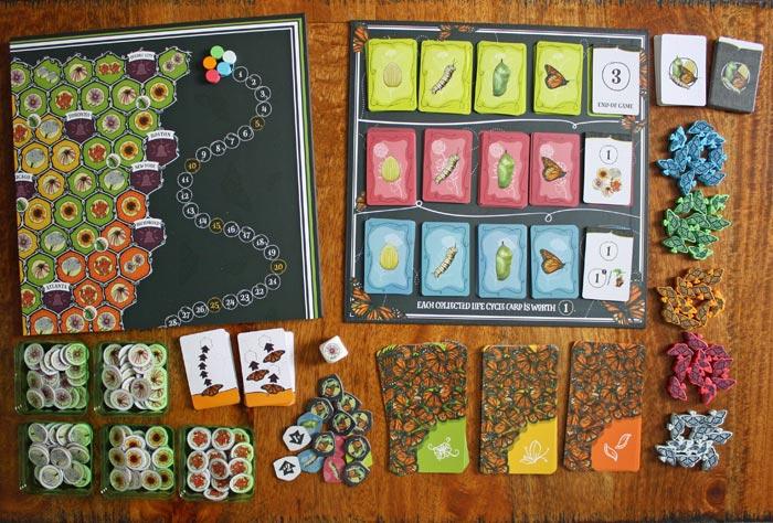 Spielzubehör zum Brettspiel Mariposas.