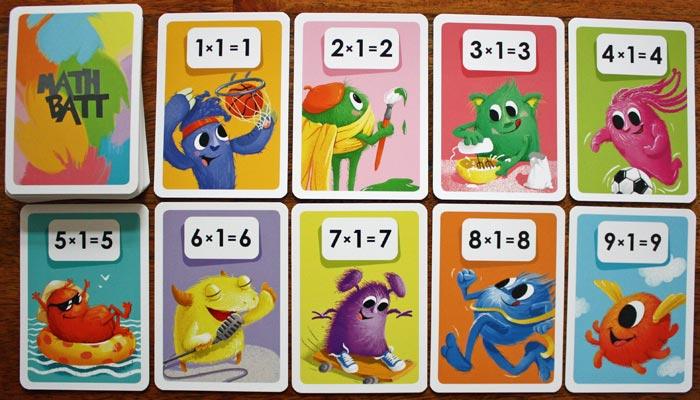 Das Spielzubehör von Math Batt.