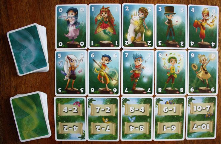 Die Spielkarten zu MatheMeister Minus.