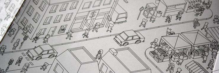 Auf den Straßen von Crime City ist viel los.