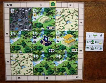 In der ersten Werung A hat sich der Spieler auf den Wald konzentriert.
