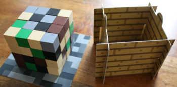 Der Minecraft-Block zu Beginn des Spiels.