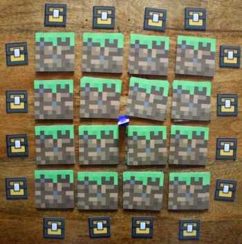 Das Minecraft 4x4 Raster.