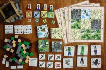 Spielzubehör zum Brettspiel Minecraft Builder & Biomes.