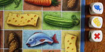 1. Wurf: Spieler entscheidet sich für Käse.