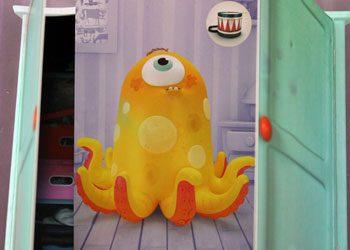 ...das Monster muss in den Wandschrank.