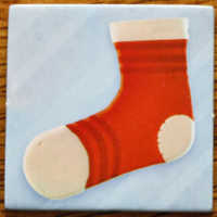 Das Socken-Plättchen.