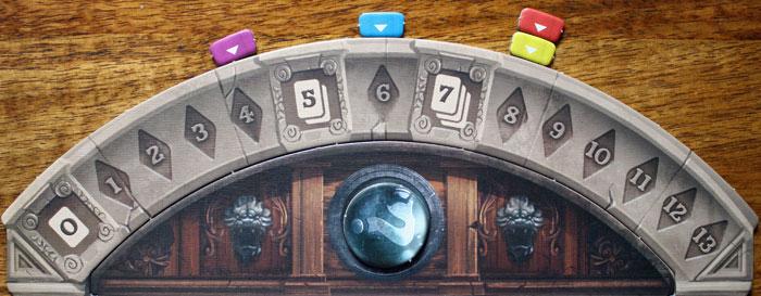 Die Position der Marker bestimmt die Anzahl an Visionen, die der Spieler sehen darf.
