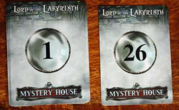 Die Objektkarten in Mystery House.