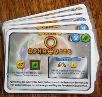 5 neue Konzernkarten warten auf die Terraformer.