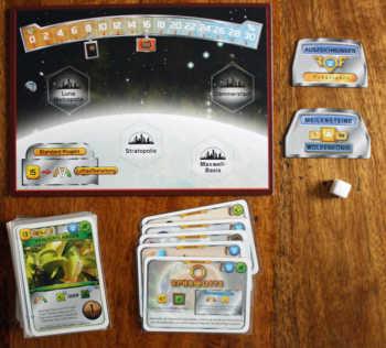 Spielzubehör der Erweiterung Nächster Halt: Venus.