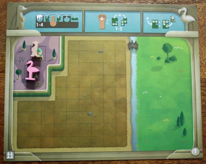 Der Zooplan des Startspieler vor dem ersten Spielzug.
