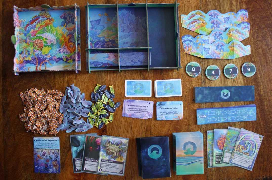 Spielzubehör zum Spiel Ozeane.