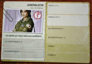 Die Charakterkarte der Generalistin.