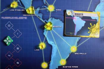 In Bogota kommt es zum Ausbruch.