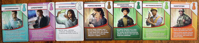 Die sieben Spezialisten in Pandemie.