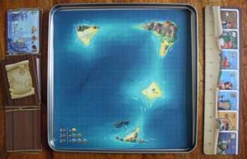 Die Seekarte des Spiels.