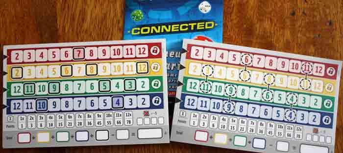 Spielzubehör von Qwixx Connected.