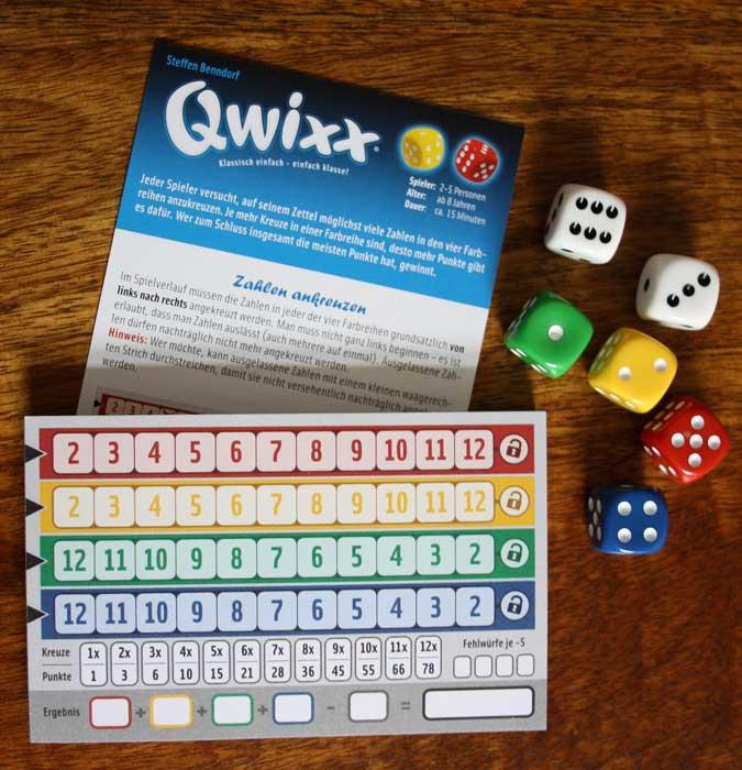 Spielzubehör von Qwixx.