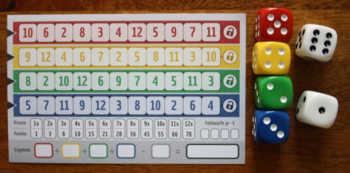Spielvariante B von Qwixx gemixxt.