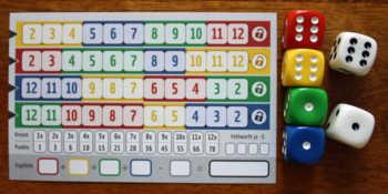 Spielvariante A von Qwixx gemixxt.