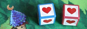 Rumms-Brettspiel-Herzen