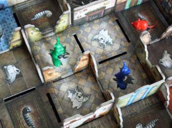 Die Tiere erkunden die geheimen Orte des Schlosses.