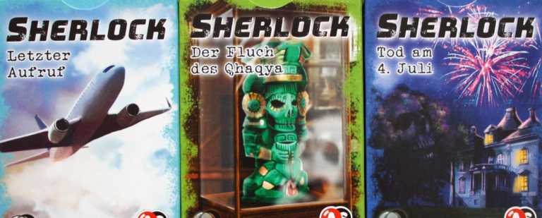 Sherlock Kartenspiel Serie 1 von Abacusspiele.