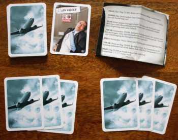 Der Start in eine Partie Sherlock mit 2 Spielern.