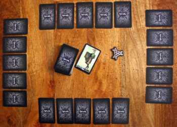 Der Silver Amulett Spielaufbau für 4 Spieler.