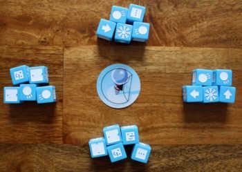 Spielaufbau bei vier Spielern.