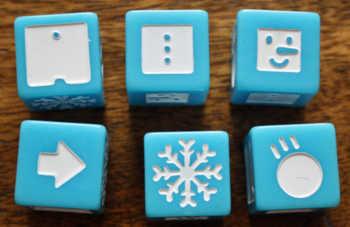 Die 6 Symbole in Snowman Dice.