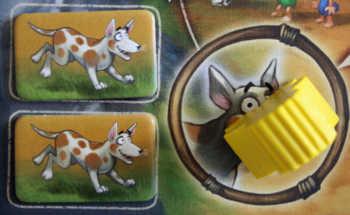 Der Hund Guff ist der Joker im Spiel.