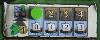 Der Schiffe-Bereich auf dem Tableau
