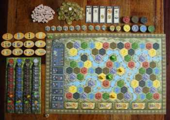 Spielplanaufbau in Terra Mystica