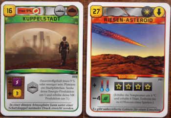 Zwei Beispiele aus dem Projektkartenstapel.