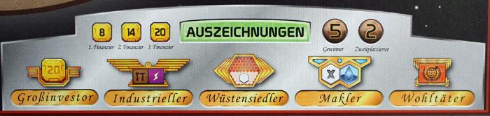 Neue Auszeichnungen des Elysium-Spielfeldes.