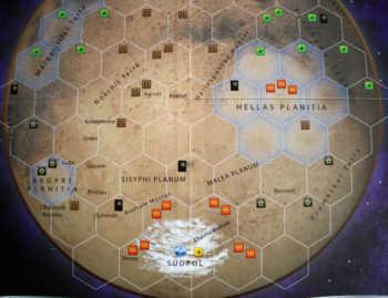 Das Spielfeld Hellas Planitia.