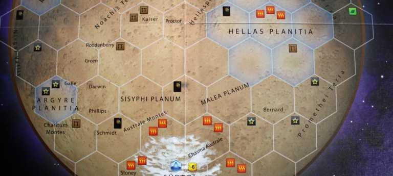Terraforming Mars - Hellas und Elysium Erweiterung.