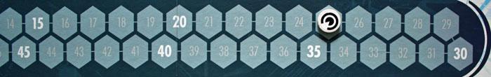 Die Spieler haben nur noch 25 Zeiteinheiten zur Verfügung.