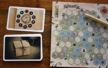 Die Aufbaukarte legt die Position der Dörfer auf dem Inselplan fest.