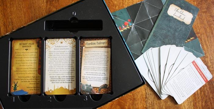 Spielzubehör der Unlock! Exotic Adventures Box.