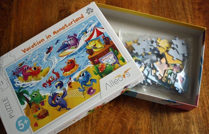 Urlaub im Monsterland - Kinderpuzzle von Alleovs ab 5 Jahren.