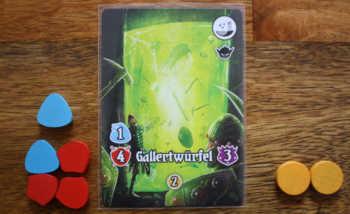 Der Spieler kämpft gegen den Gallertwürfel und erhält 2 Geld als Belohnung.
