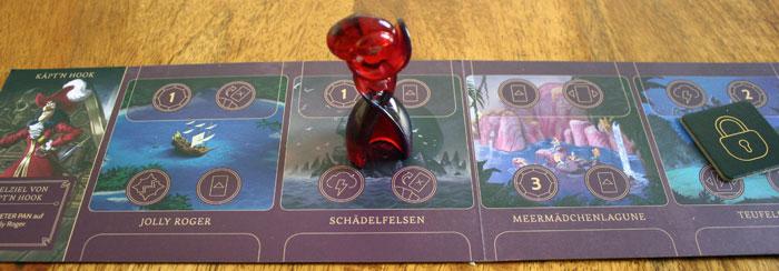 Die Spielfigur kann sich frei von Ort zu Ort bewegen.