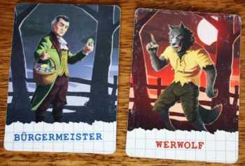 Rollen: Bürgermeister und Werwolf.