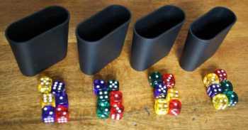 Spielaufbau bei 4 Spielern.