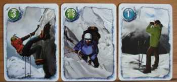 Die verschiedenen Aktionskarten stehen den Spielern zur Verfügung.