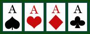 Poker - Rangfolge der Farben.