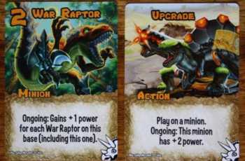 Die Dinosaurier sind in Smash Up vor allen eins: Stark! Und sie haben Laser, oh oh.